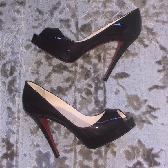 65a01e76852b Christian Louboutin Shoes - Christian Louboutin Very Prive Dark Purple  Patent